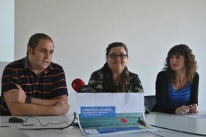 Imagen de la rueda de prensa celebrada el Viernes 29 de Noviembre del 2013 con la intervención de los representantes de la misma junto con la Doctora María Eugenia Yoldi, Médico Neuropediatra del Complejo Hospitalario de Navarra (CHN)